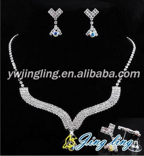 Wholesale Fashion Sapphire Crystal Bridal Wedding Jewelry Sets