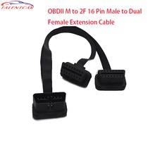 Best selling OBD2 cable connector 16 pin OBD M to 2F extension cable