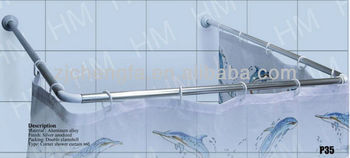 U-shaped high quality stainless steel shower curtain rail/shower curtain rod/shower curtain pole(80*80*80cm/90*90*90cm)