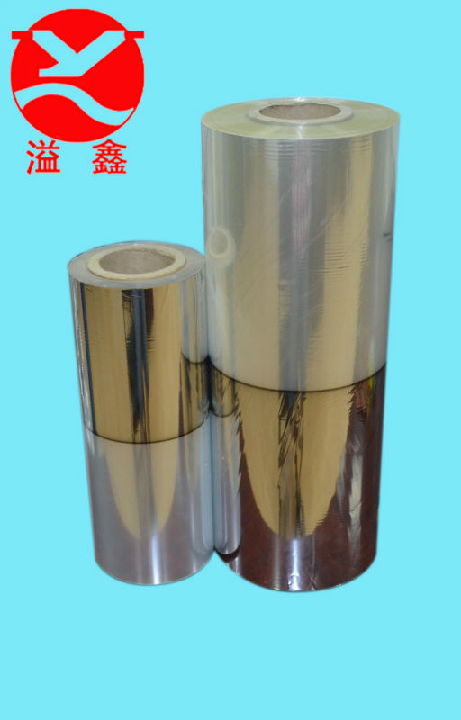 20 microns half metallized PET films, visible package for food