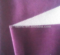 100% polyester cation vertical stripe velboa fabric