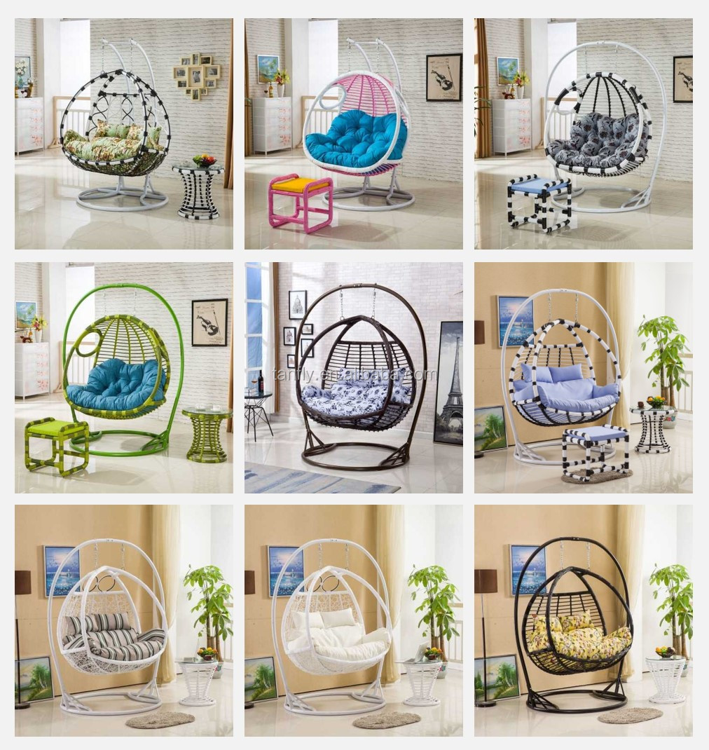 Wholesale Cheap Metal Rattan Garden Round Wicker Egg Shaped Wicker Chairs