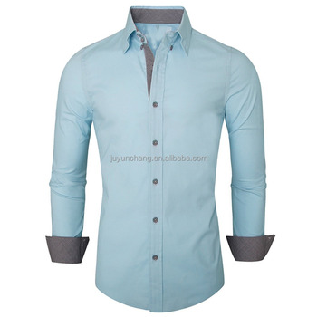 Custom wholesale pattern men's long sleeve fashion oxford shirt