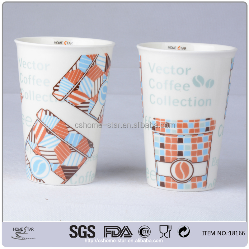 tall ceramic coffee mugs without handle