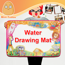 Minitudou 86x57cm Toys Water Drawing Mat Board Painting And Writing Doodle With Magic Pen Non-toxic Drawing Board For Baby Kid
