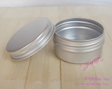 empty aluminum can box,50g aluminum cosmetic jars,silver metal round tin with lid