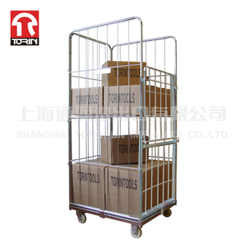 Torin SWK1003 Manufacturer Best Selling Mesh Box Wire Rolling Metal Storage Cage