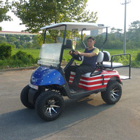 4 seater gas powered golf cart with off road tyre and fashion type made in China