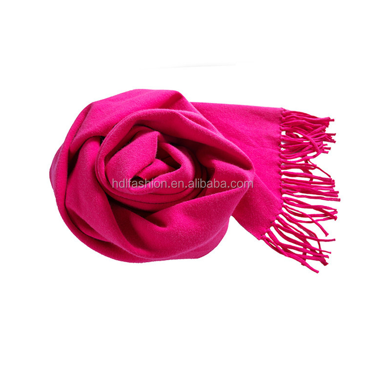 New design elegant women scarf winter warm two layer fringe pashmina