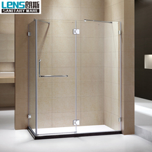 Frameless design prefab modular bathroom shower cubicle