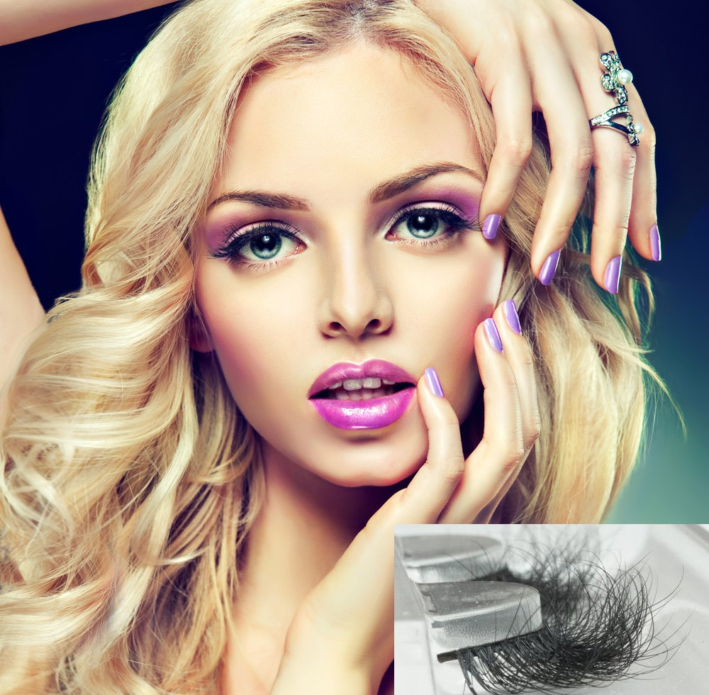 3D faux mink eyelashes glue included custom package free sample silk eyelash