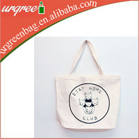 100% Natural white 12oz cotton canvas tote bag