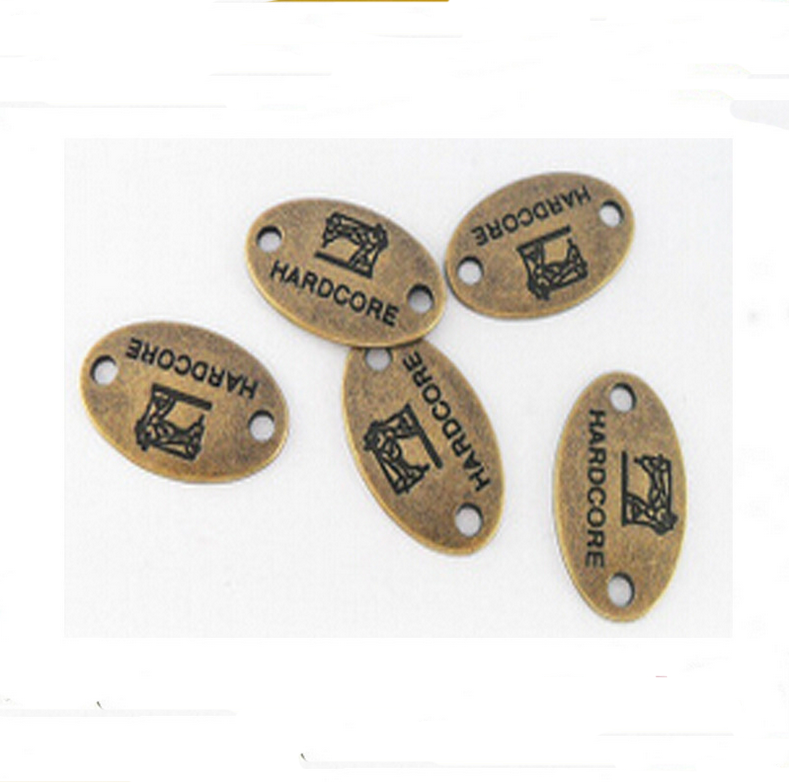 Factory Wholesale Rectangle Shape Custom Metal Label Plate For Shoes and Bags