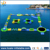 0.9mmPVC inflatable aqua park good qaulity inflatable water obstacle course for sale