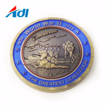Custom World War II Souvenirs Challenge Metal United Nations Coins with logo