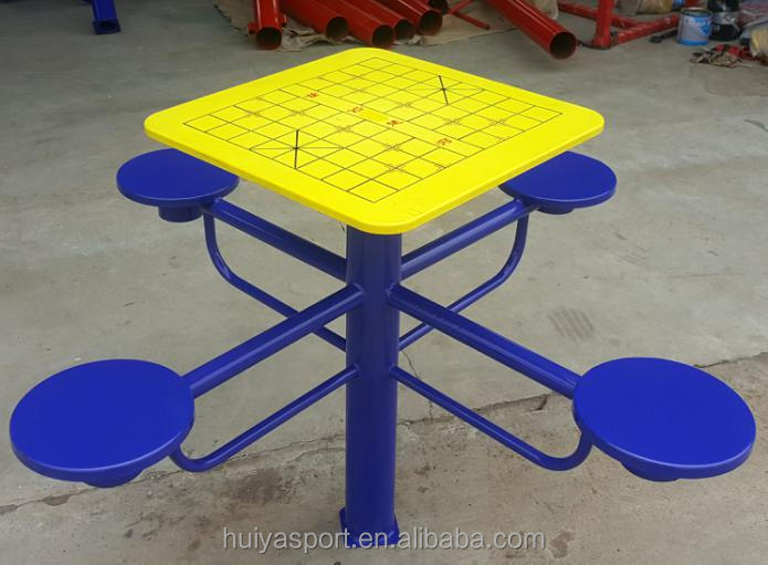 Outdoor ABS/Stainless steel chess table in Public area