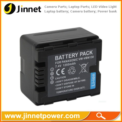 New Battery Pack for PANASONI VW-VBN130 HDC-HS900 SD900 SD800