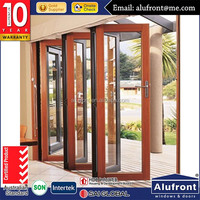 aluminum composite wood panel hinged door design