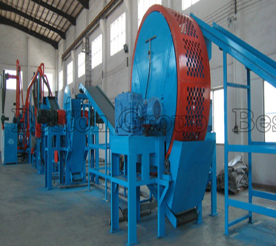 Large profit 10t - 50t waste tyre crushing machine used tire shredder with CE