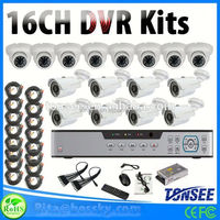 4ch 8ch 16ch optional Video Surveillance Kit cctv system Hd 1080p 2mp Ir Ip Camera