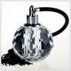 Pump Spray Clear Crystal Faceted Ball Perfume Bottle