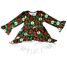 Christmas children's boutique clothing long sleeve high low dress fancy frocks for baby girls