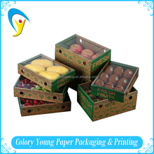 China Paper Cherry Fruit Packaging Box With Clear Window