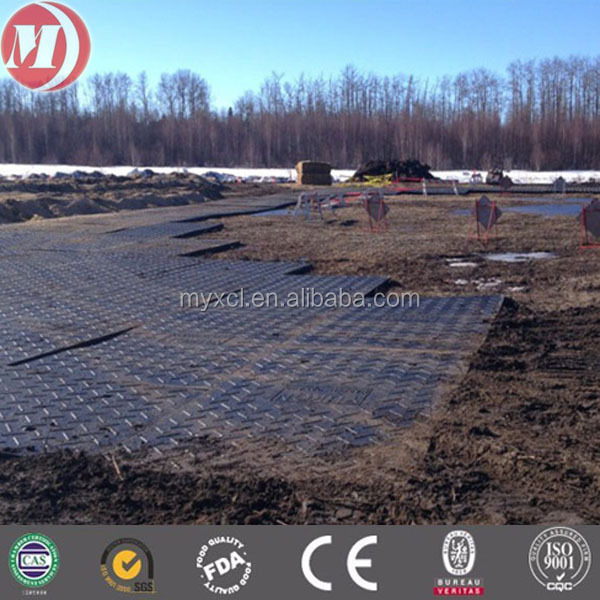 hard strength plastic uhmepe ground protection system mats,hdpe temporary access roadways Marsh plate