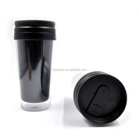 450ml BPA Free Plastic Two Walls Bulk Coffee Mugs