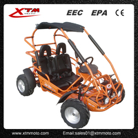 gas 200cc 2 seat go kart with 4 wheel drive