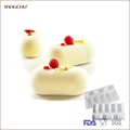 Small Oval Pillow Silicone Mousse Mold Cake Decoration Tools ClassicFrench Style Dessert Moulds