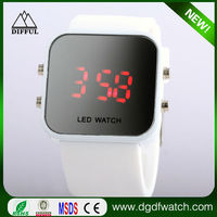 2015 New silicone Jelly Watch LED mirror makeup watch electronic children watches boys and girls whose Christmas gift