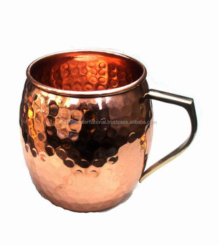 BPA FREE BARREL SHAPED MOSCOW MULE 100% PURE COPPER DRINKING MUG