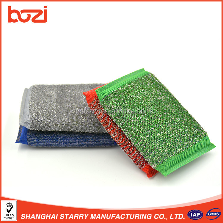 Antimicrobial Odor Free Washing Sponge Sheet With Scouring Pad