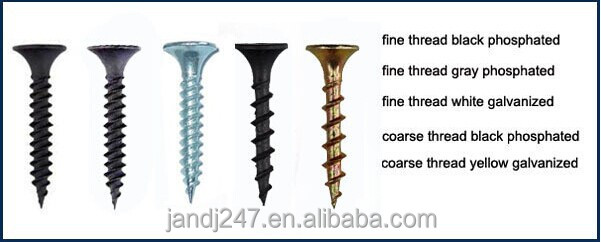 Plasterboard black drywall screw with factory price