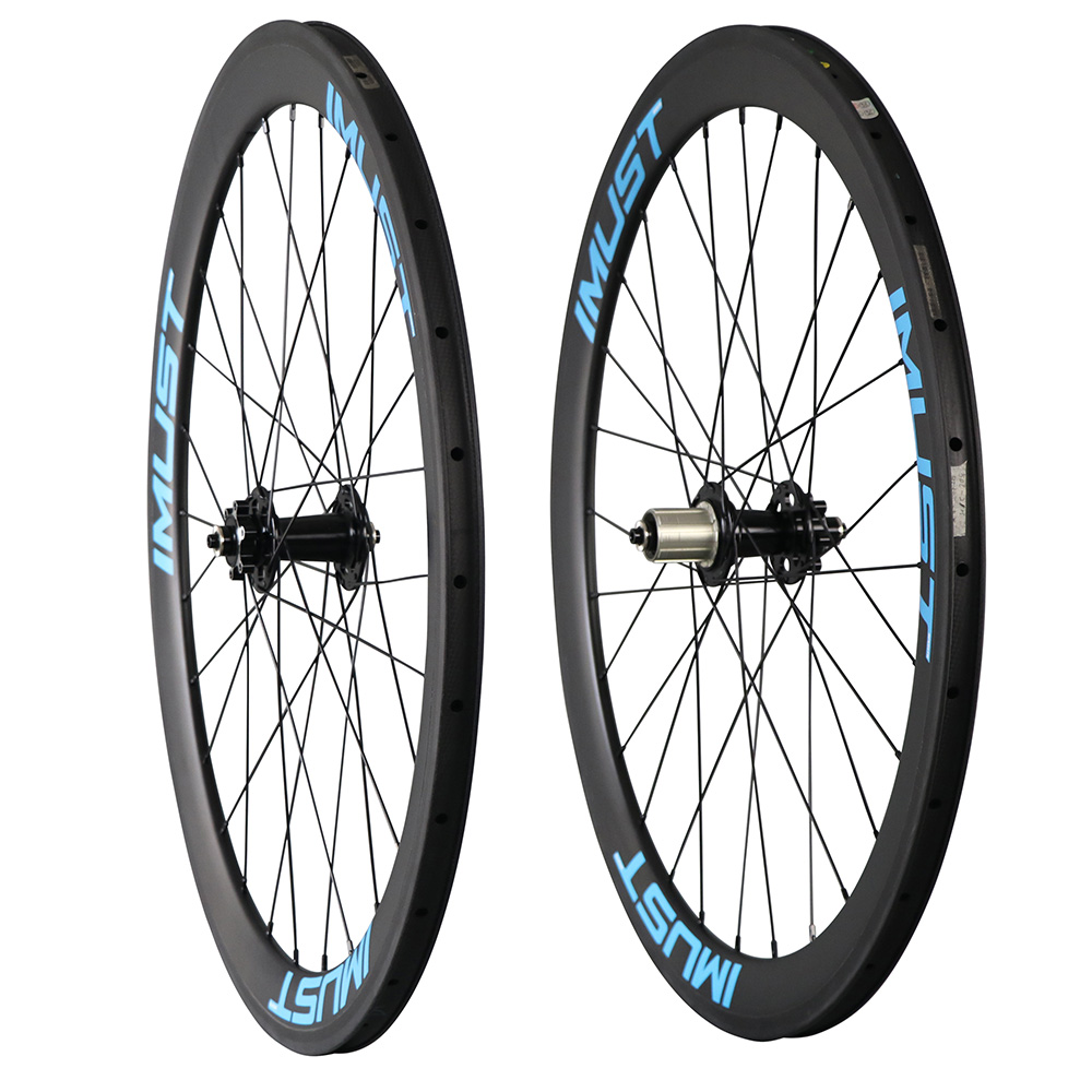 China 700c disc brake cyclocross wheel disc carbon wheel with disc powerway hub 28H