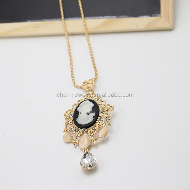 Wholesale Top Quality New Fashion Statement Goddess Necklace for Women Design KPXN-079