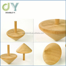 High quality handmade classic natural color wooden peg-top toy