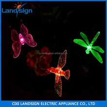 hot sale CiXi Landsign home decor hummingbird color changing led light outdoor solar yard pathway lights