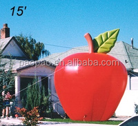 Inflatable apple balloon, custom fruits replica giant balloon