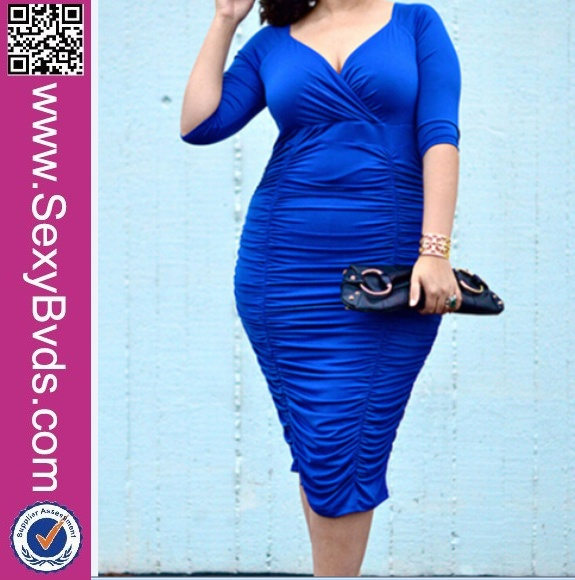 Deep V-neck women wholesale plus size clothing