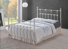 teak wood double bed designs 3ft/4ft/5ft double Europe fashion adjult metal bed frame
