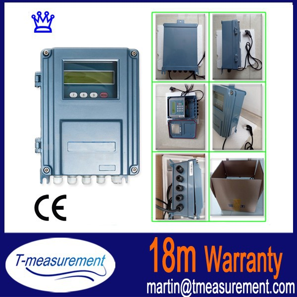 TDS-100F Wall mounted ultrasonic flow meter, sea water flowmeter CE Taijia