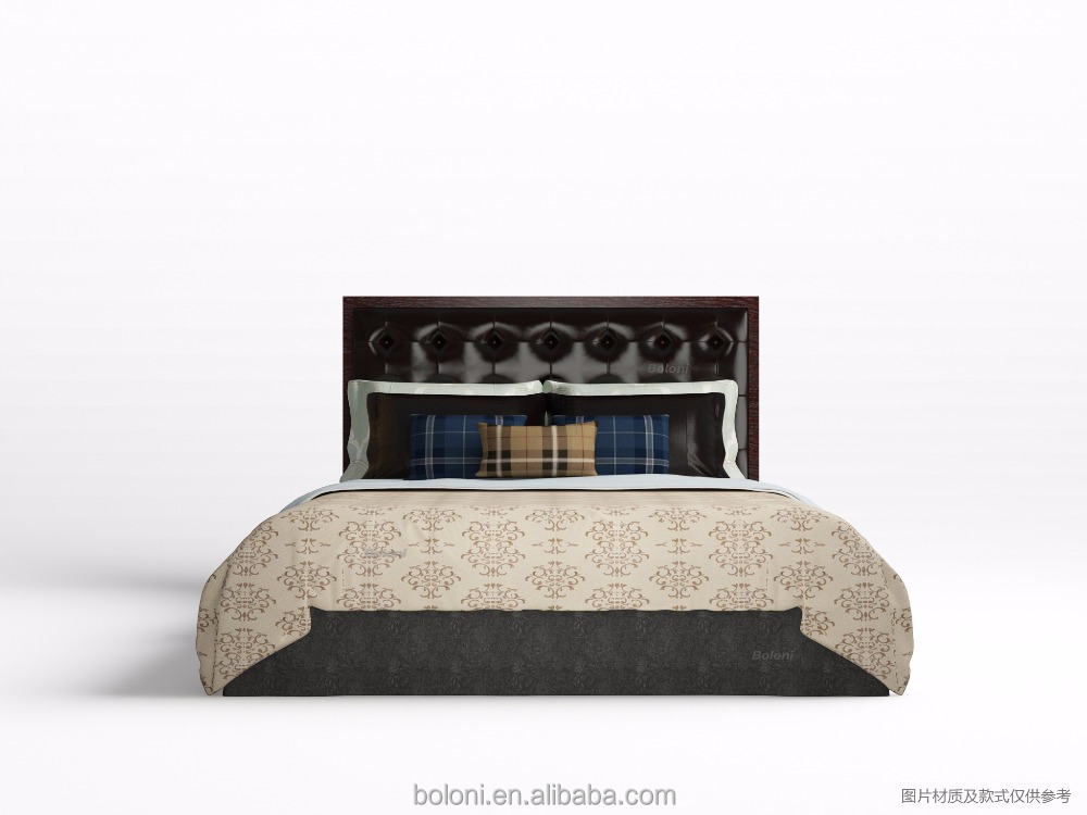 French European antique style furniture wholesale latest wooden king size big button tufted upholsteded linen bed