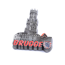 promotional item 3d metal cities <strong>fridge</strong> magnet