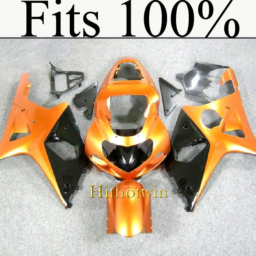 Fits 100%!! INJ Fairing 2000 2001 2002 GSXR 1000 orange Fairing For Suzuki GSXR1000 2000 2001 2002 GSX R1000 Fairing