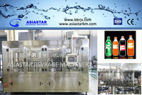automatic pet bottle carbonated water filling machine washing filling capping machine