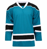 NHL San Jose Sharks Practice Hockey Jersey Accept Embroidered Logo