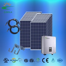 ZJSOLA 100kva 200kw solar panel system off grid/ on grid 10KW, 15kw, 20kw, solar package