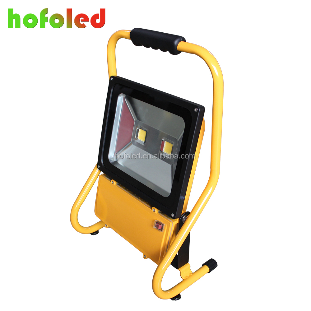 Battery powered led work lamp IP65 Led Flood Light 100w rechargeable floodlight